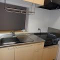 キッチン(IHコンロ付)・写真は202号室